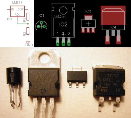 Parts: LM317 Adjustable Voltage Regulator   Hackaday