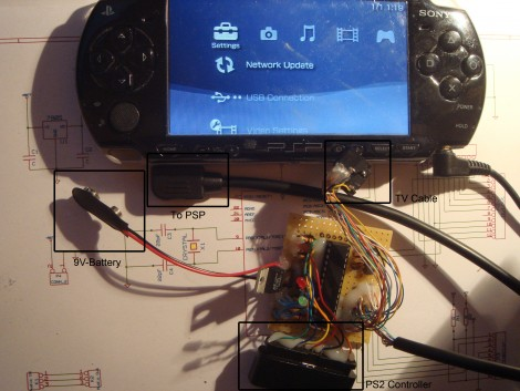 Playstation 2 Controller To PSP Adapter   Hackaday
