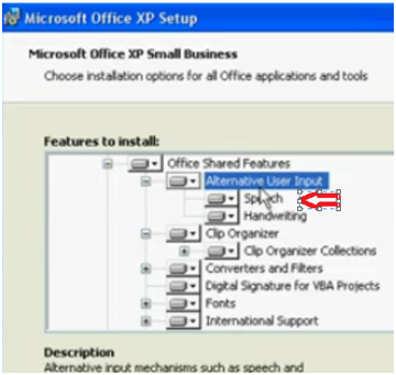 Add Speech to Microsoft Office XP