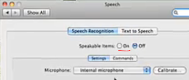 Mac Speakable Items