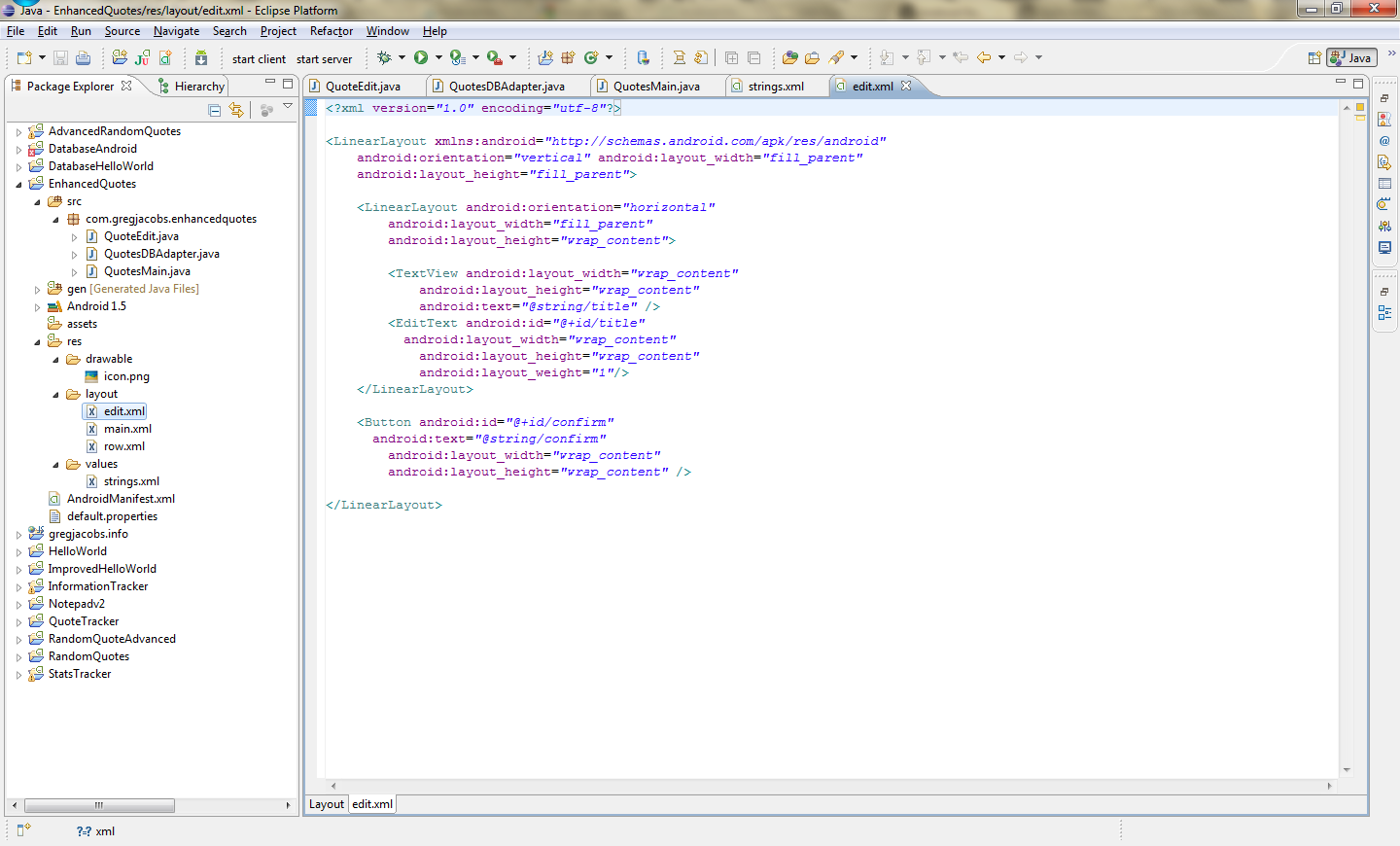 Android Development 101- Part 4:Advanced Database/GUI Code And DDMS