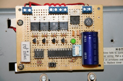 Replacing The Driver Board In An Old-school Door Chime | Hackaday