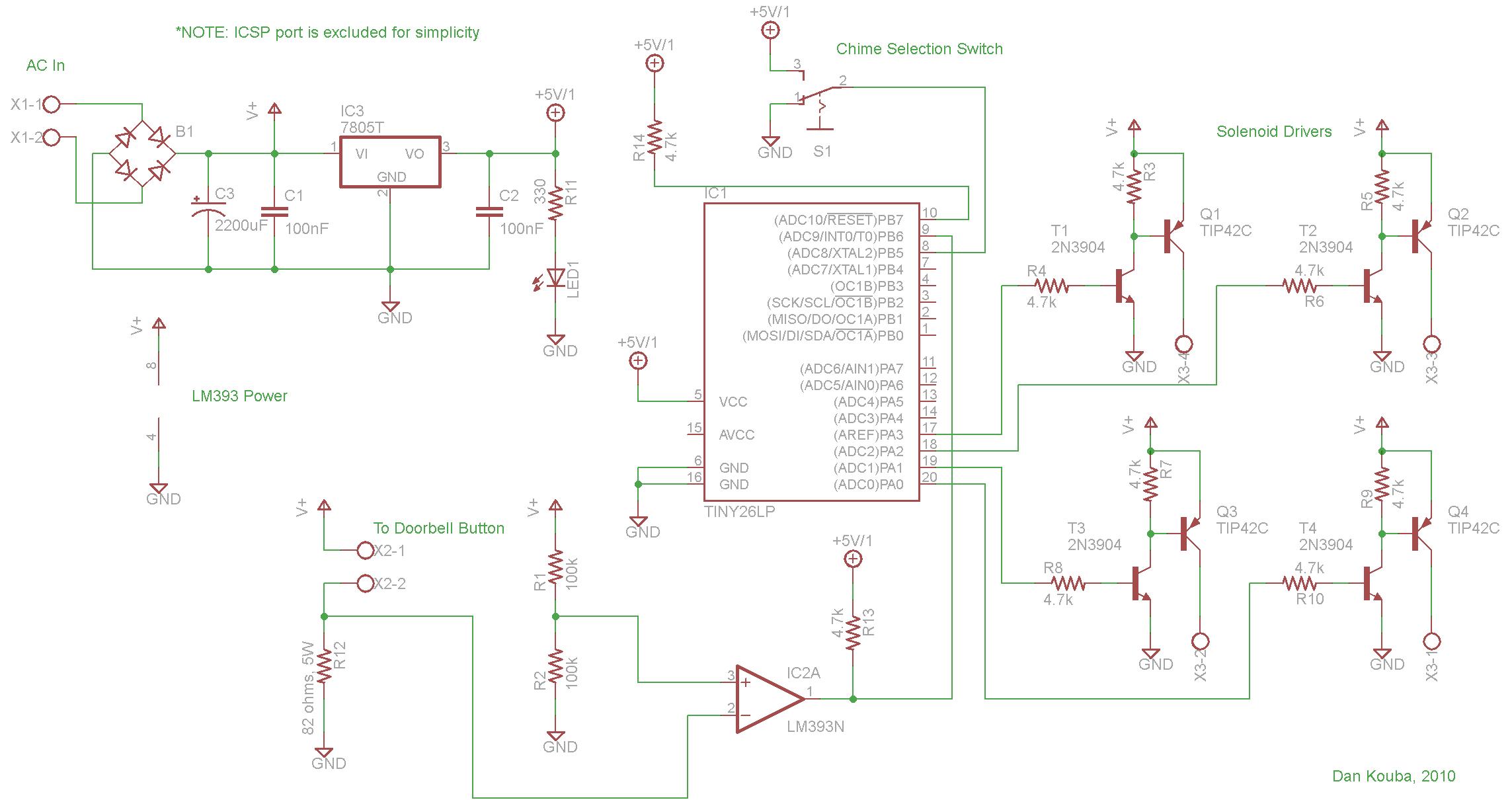 Schematic Door Bell Wiring Diagram from hackaday.com
