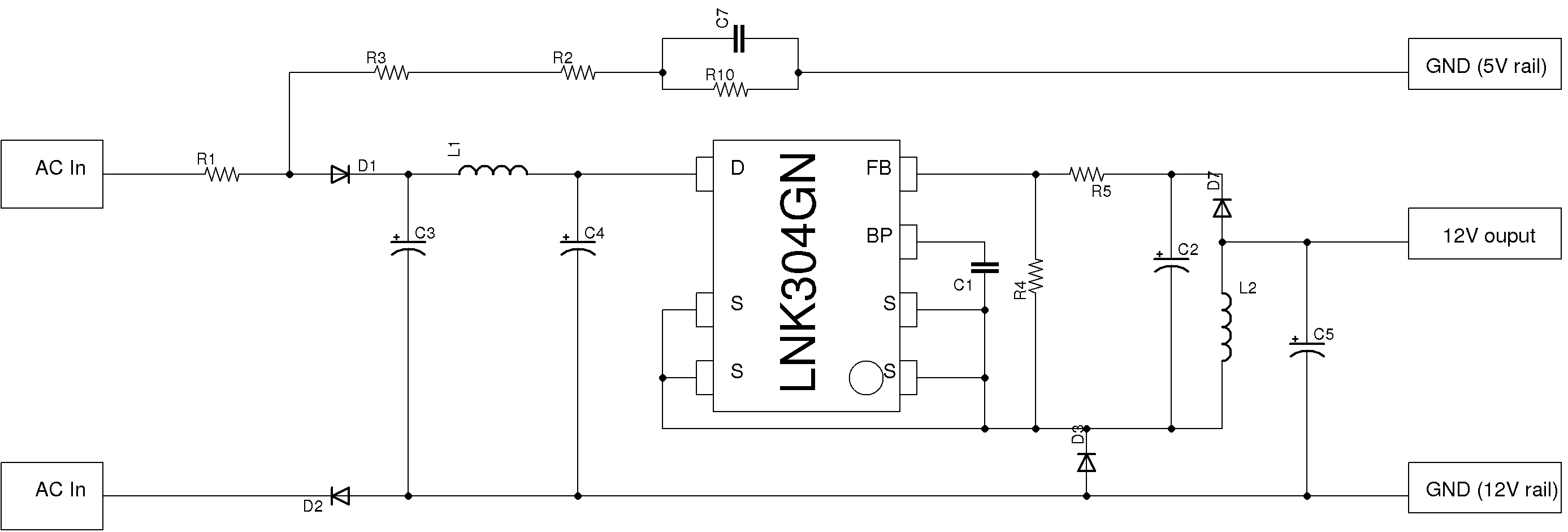 Circuit Off Line Ac To Dc Power Supply Nonisolated Designed By Dave