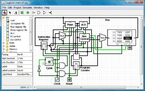 Logisim: Open Source Digital Logic Simulator   Hackaday