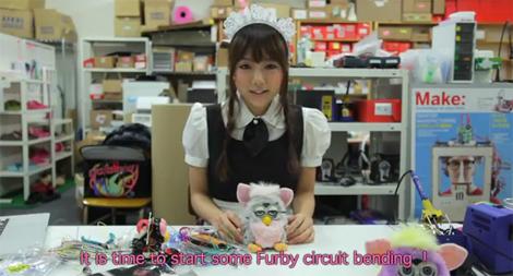 Japanese Maid Mods A Furby | Hackaday