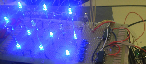 Using An LED Cube As An Audio Visualizer | Hackaday