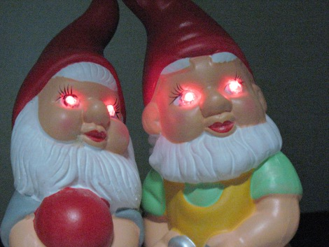 Image of gnomes with glowing eyes
