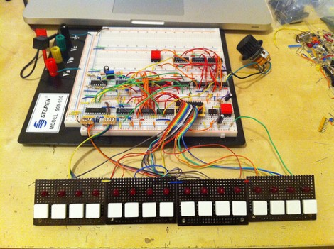 7400 Drum Machine Is A Delight | Hackaday