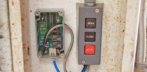 Ethernet Controlled Garage Door Hackaday