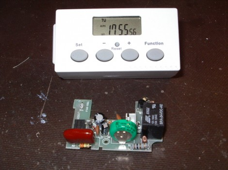 Hacking An AC Outlet Timer For Project Use | Hackaday