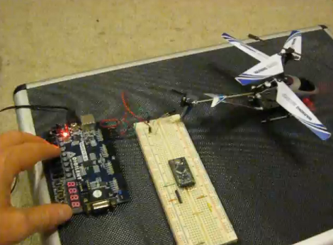Decoding, Then Cloning An IR Helicopter Toy's Control
