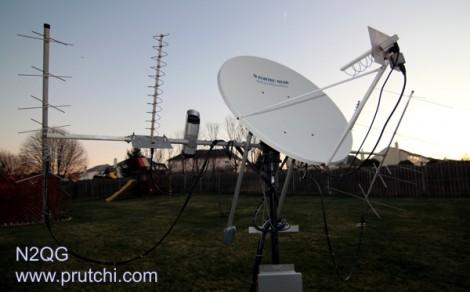 FTA Dish Used To Receive L-band Amateur Radio   Hackaday