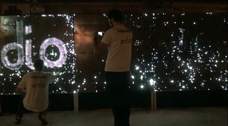 painting a wall with light using water as ink hackaday painting photography ideas post modern vandalism how to hack