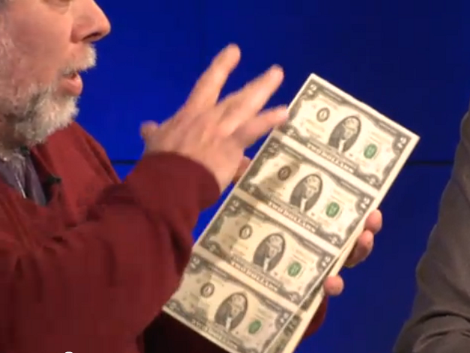 Woz] Prints And Spends His Own $2 Bills   Hackaday