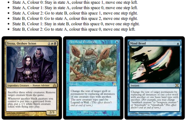 Building A Turing Machine From Magic The Gathering Hackaday The same goes for infinite mana and infinite gravestorm. hackaday