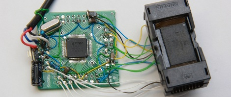Reading Bare NAND Flash Chips With A Microcontroller | Hackaday