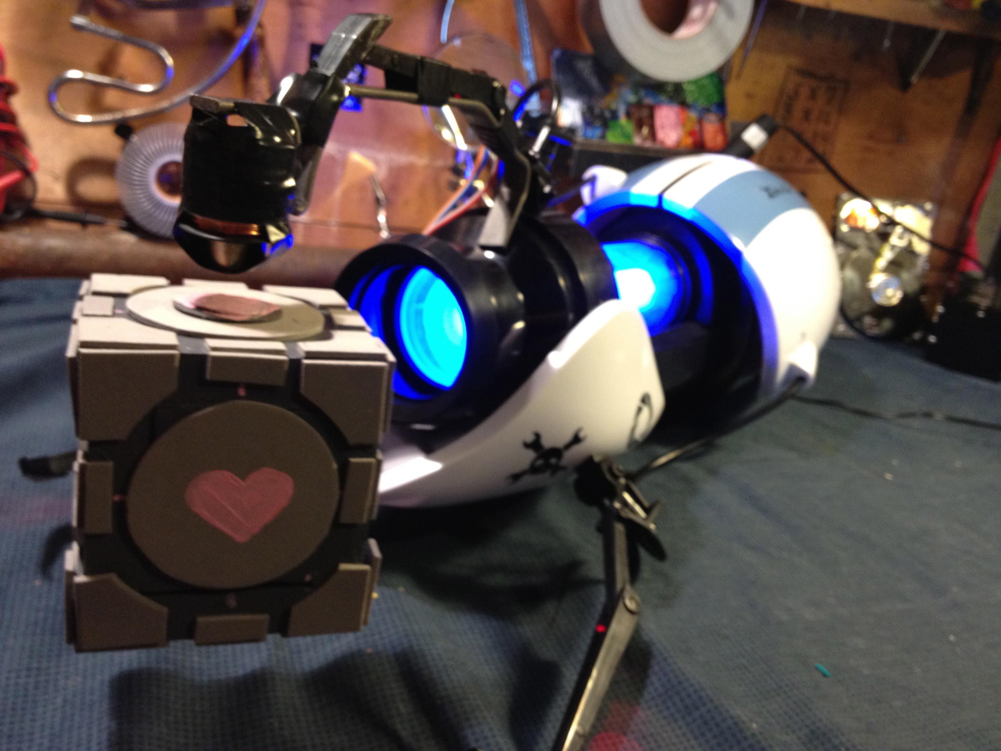 Hackaday's Portal Gun Actually Levitates A Companion Cube