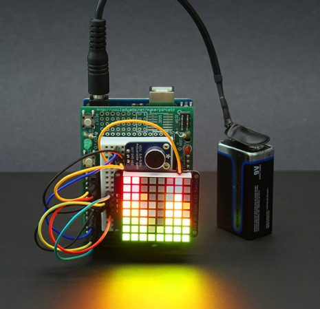 Color LED Matrix VU Meter Shows How To Use FFT With Arduino | Hackaday