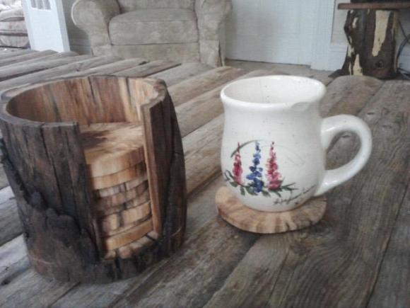 diy-log-coaster-set