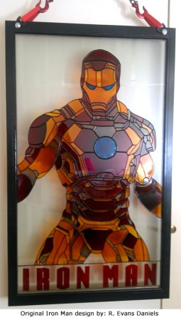 ironman-faux-stained-glass