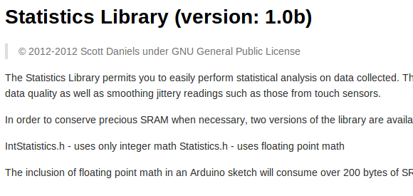 statistics-library-for-microcontrollers