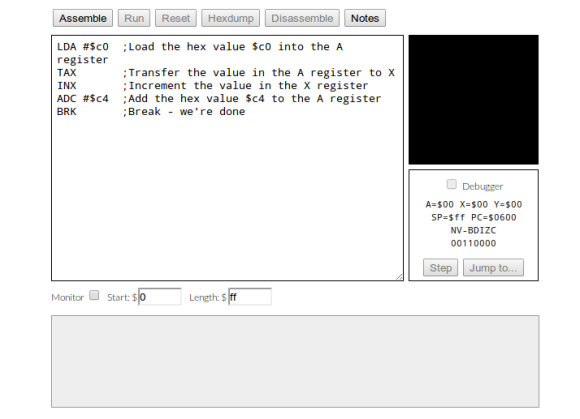 Learn A Little Assembly Language For The 6502 Processor