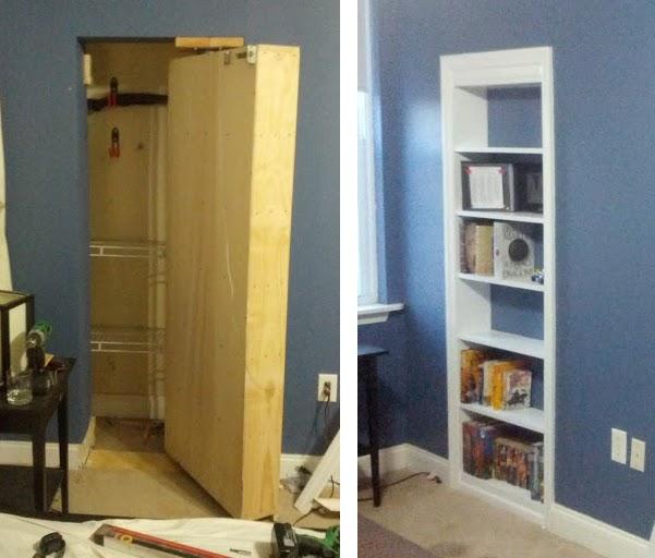 door hidden by bookcase is a marvel of diy engineering hackadaydoor hidden by bookcase is a marvel of diy engineering