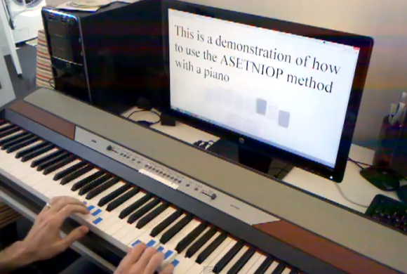 ASETNIOP Chorded Typing With A Piano Keyboard | Hackaday
