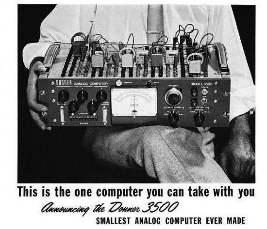 Retrotechtacular: Donner 3500 Portable Analog Computer