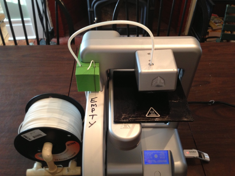 Cube 3D Printer Hack Lets You Use Bulk Filament | Hackaday