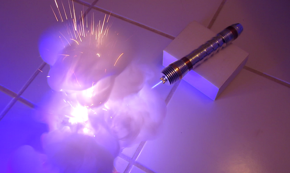3W Handheld Laser Raises Hope For A Real Lightsaber Someday | Hackaday