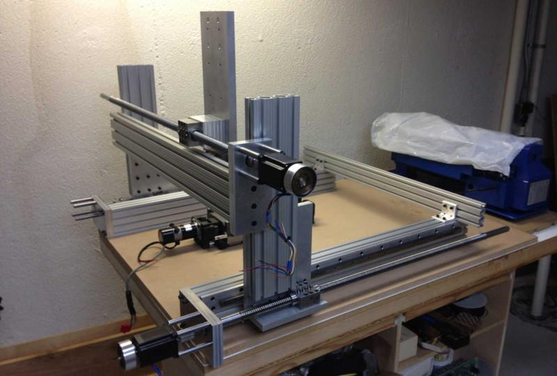 Cnc Router Built With 80 20 Rail Hackaday