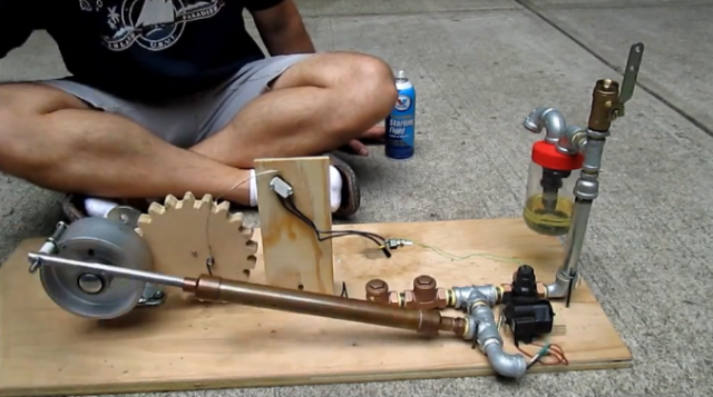 Building An Internal Combustion Engine From Hardware Store