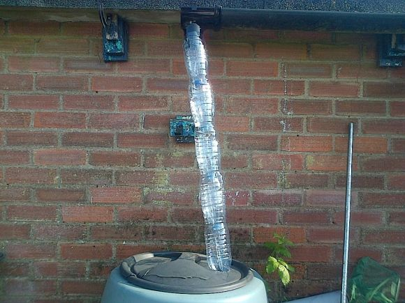 plastic-bottle-downspout