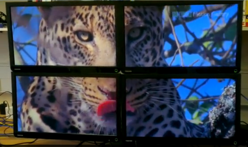 Multiple Raspberry Pi Boards Used To Create Video Wall | Hackaday