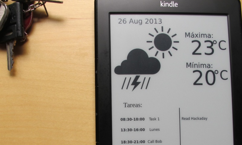 Kindle Hack Adds Value To The Wallpaper | Hackaday