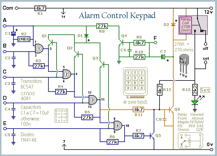 5 Digit Security Code Activated Relay Using Mostly Discrete