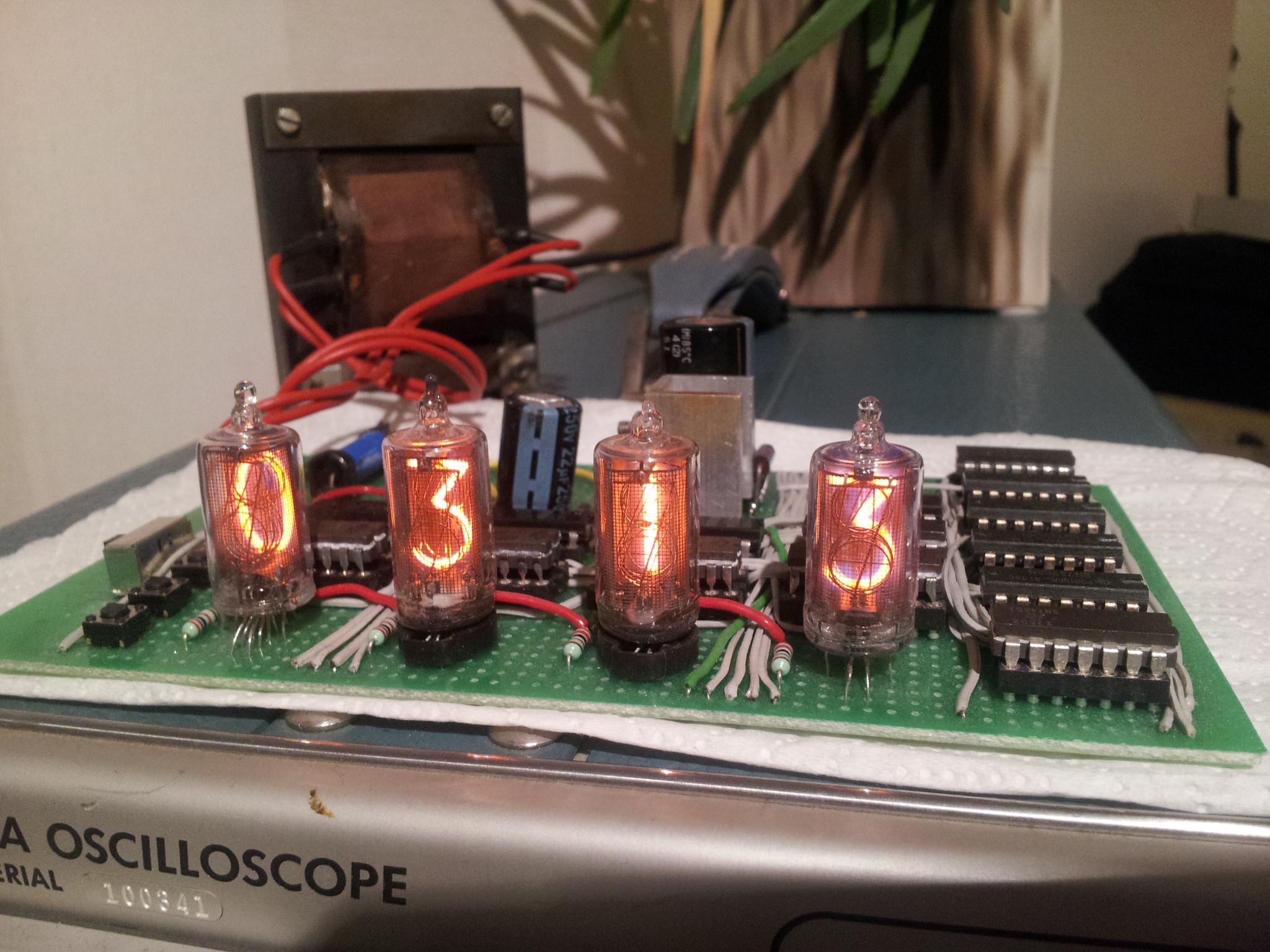 A Simple Nixie Clock With Logic Gates | Hackaday