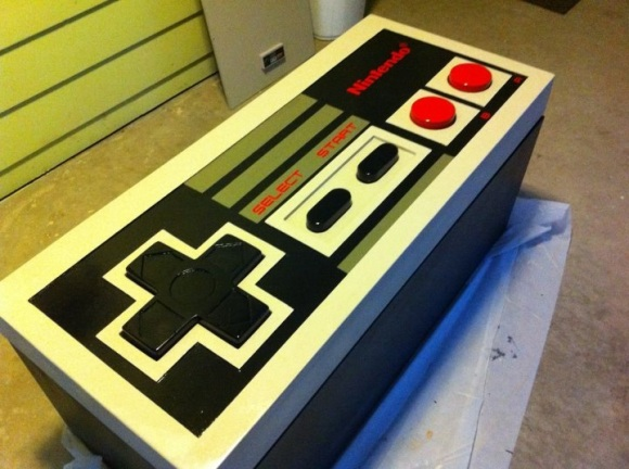 Controller Coffee Table.Functional Nes Controller Coffee Table Hackaday