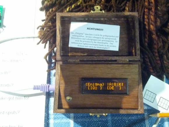 This box simulated the Enigma Machine
