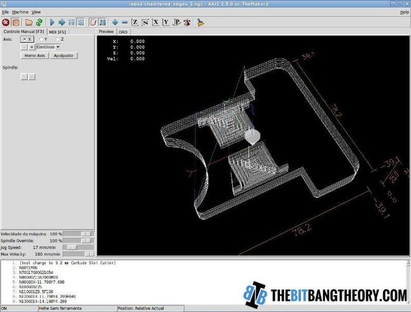 CNC Software Toolchain Using Only Open Source Software
