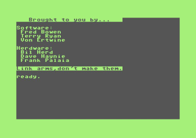 The Easter Egg in the Commodore C128