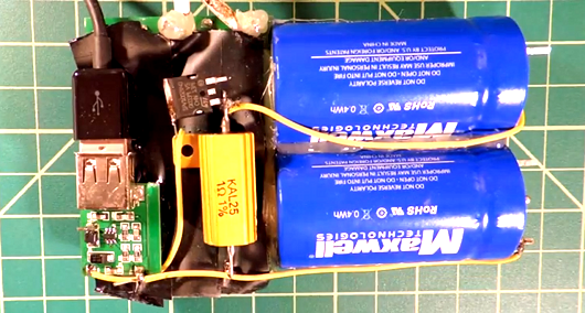 Supercap-Based Cell Phone Charger | Hackaday