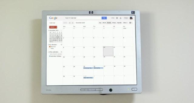 Raspberry Pi Wall Calendar