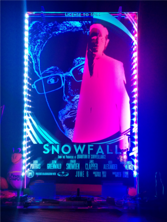 Snowden Immortalized As Bond Villain In Edge-Lit Acrylic