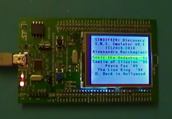 Sega Master System On A STM32 Development Board | Hackaday