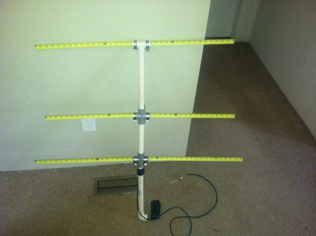 Tape Measure VHF Yagi Antenna | Hackaday