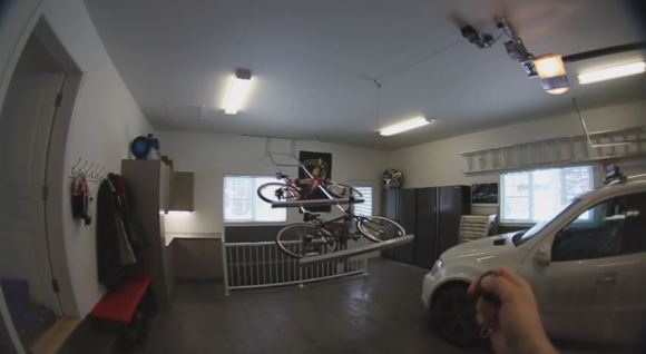 DIY Ceiling Rack Keeps Your Bikes Out Of The Way | Hackaday