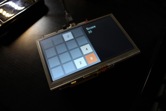 Embedded touch version of 2048 tile game